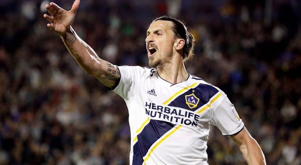 pretty nice 7a3fb 7526d FAIL OF THE YEAR: New spelling on Ibrahimovic's LA Galaxy ...