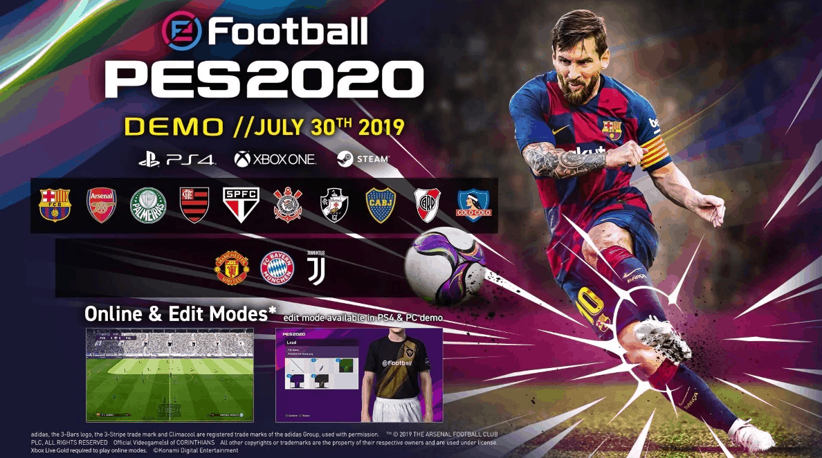 Games With Gold July 2020.Efootball Pes 2020 Demo Download Size Teams System