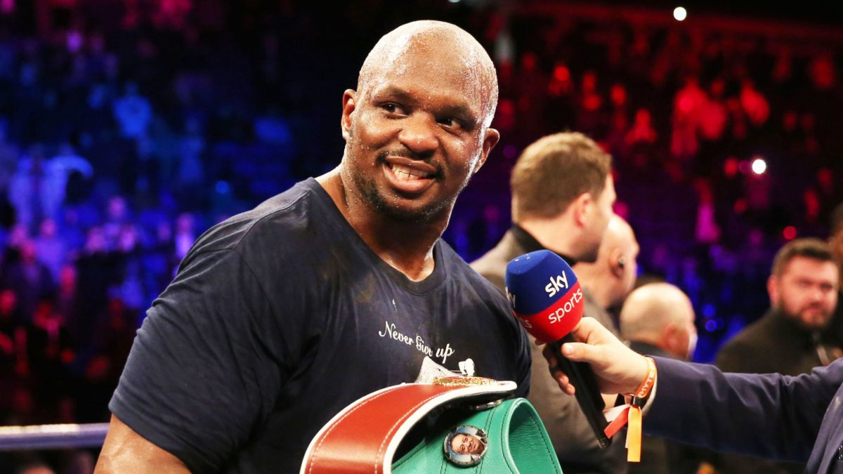 Boxer Dillian Whyte during fight