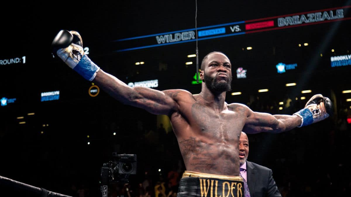 Heavyweight boxer Deontay Wilder