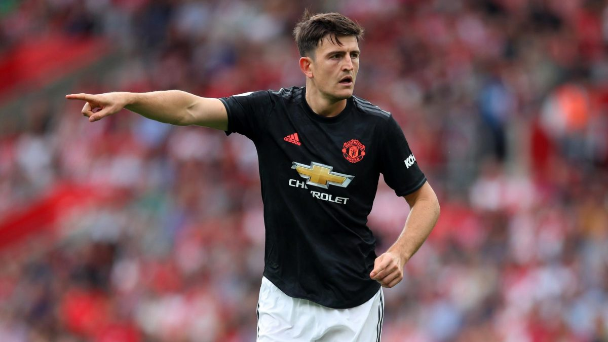 Manchester United defender Harry Maguire during Premier League game against Southampton