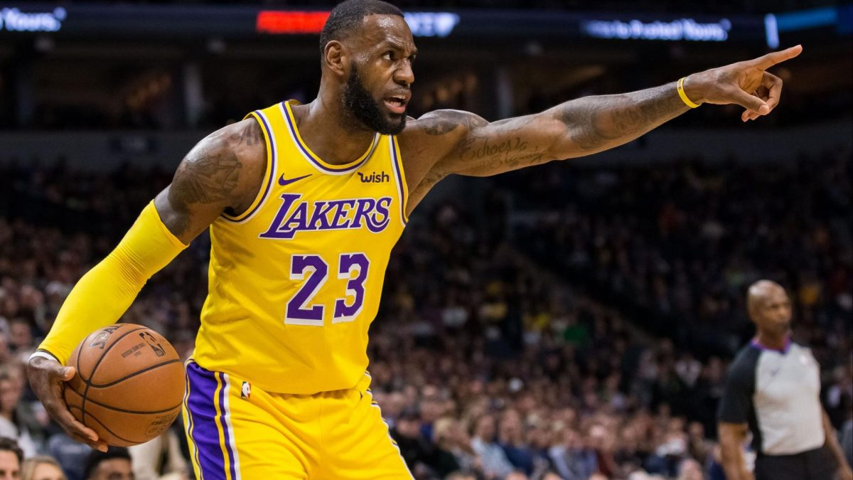 LeBron James in action for LA Lakers