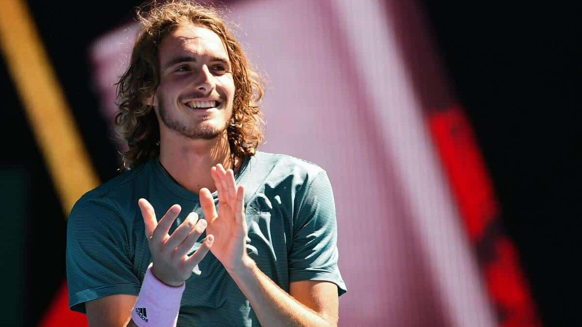 Greek Tennis star Stefanos Tsitsipas