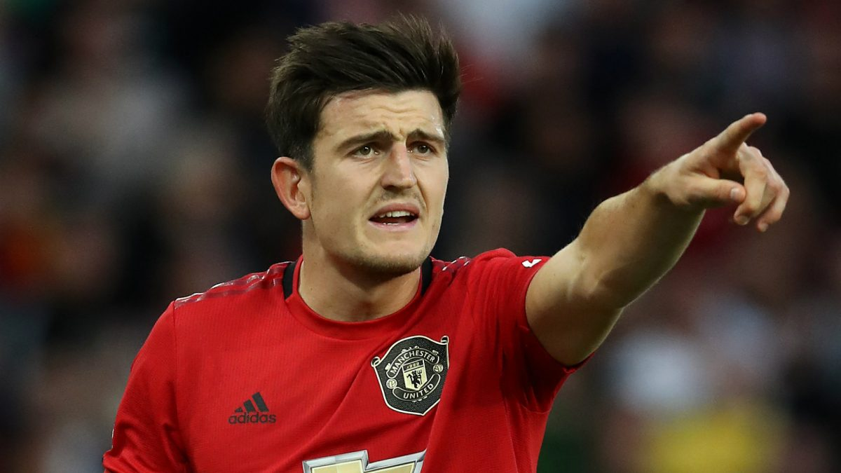 Harry Maguire during Manchester United game 2019/2020 season