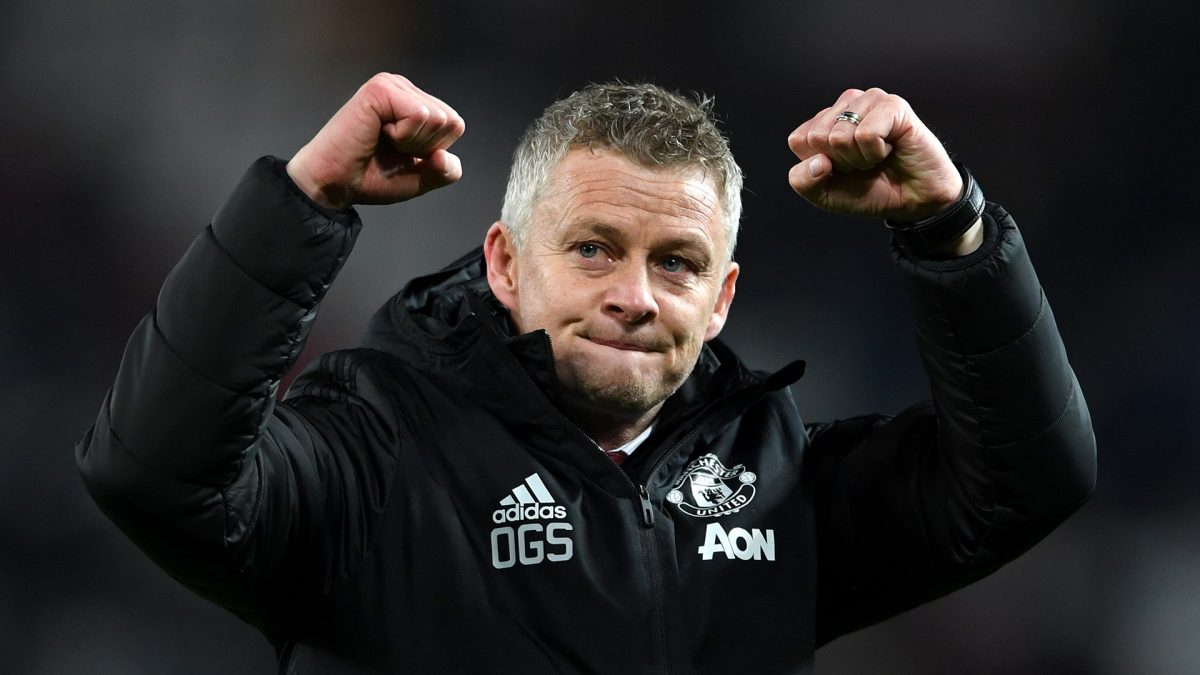 Ole Gunnar Solskjaer during the match between Manchester United v Tottenham Hotspur in the Premier League