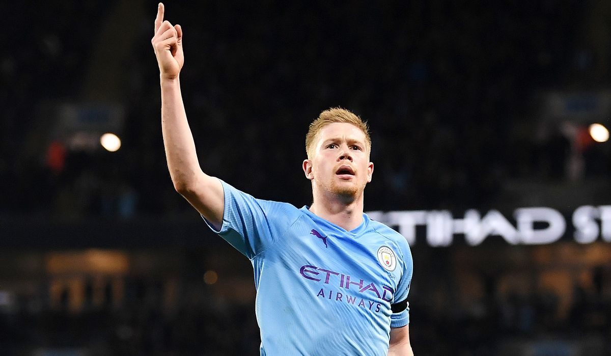 Kevin de Bruyne in action for Manchester City