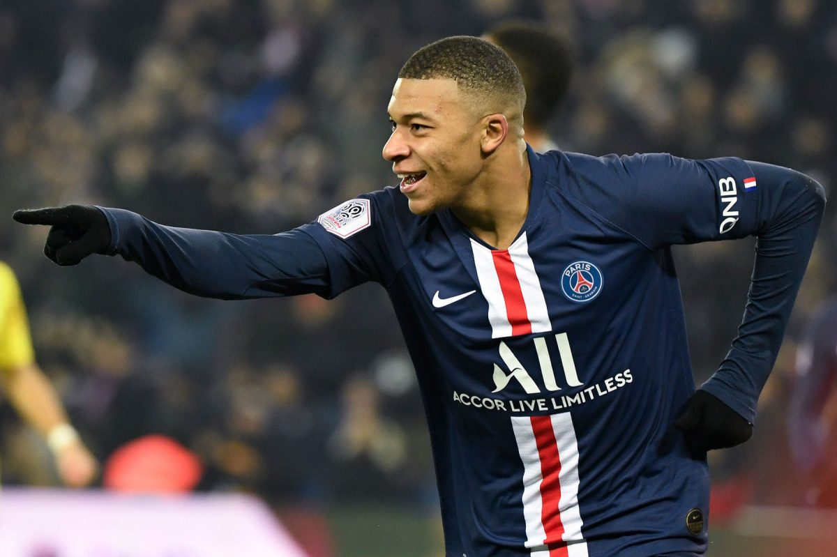 Kylian Mbappe during the clash between PSG v Nantes