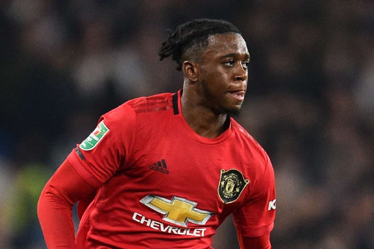 Aaron Wan-Bissaka in action for Manchester United