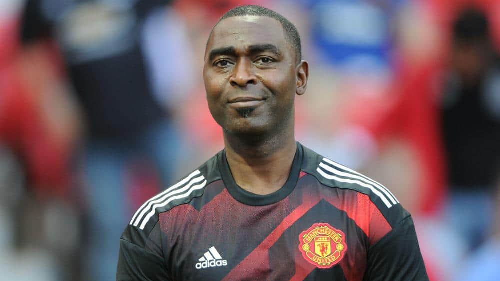 Andy Cole former Manchester United player
