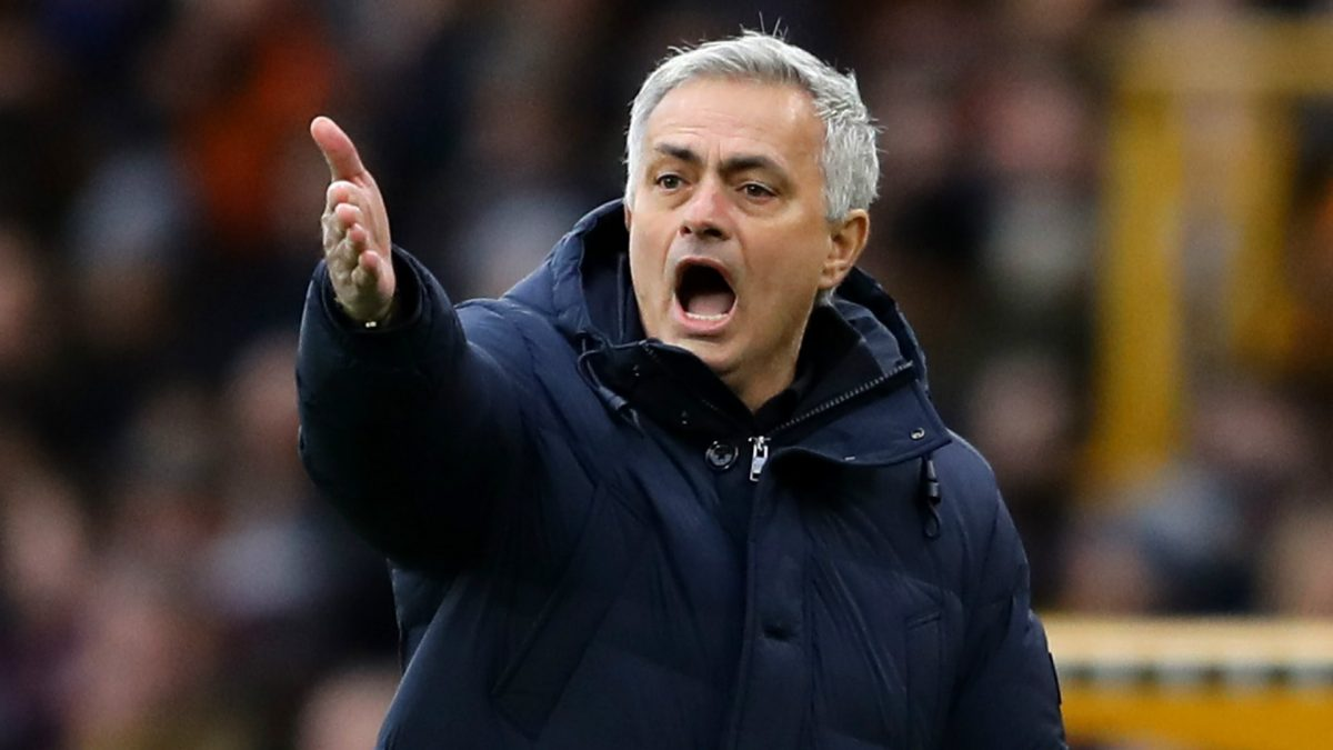 Tottenham boss Jose Mourinho during Spurs game