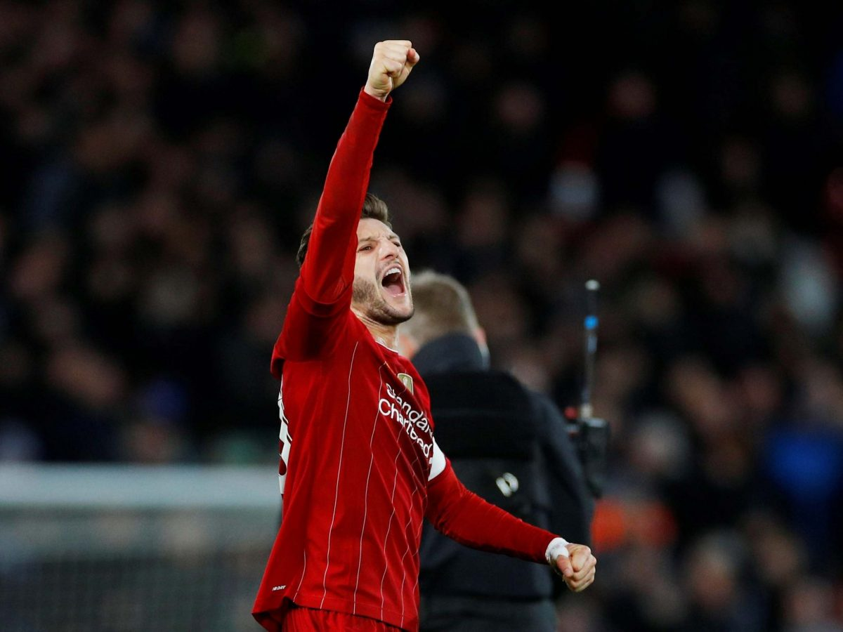 Liverpool star Adam Lallana serves as a reference point