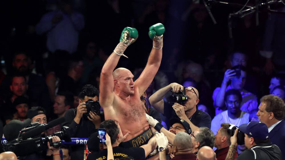 Boxer Tyson Fury after victory over Deontay Wilder