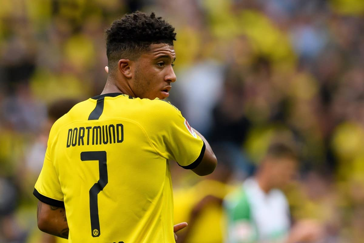 Jadon Sancho during Borussia Dortmund match