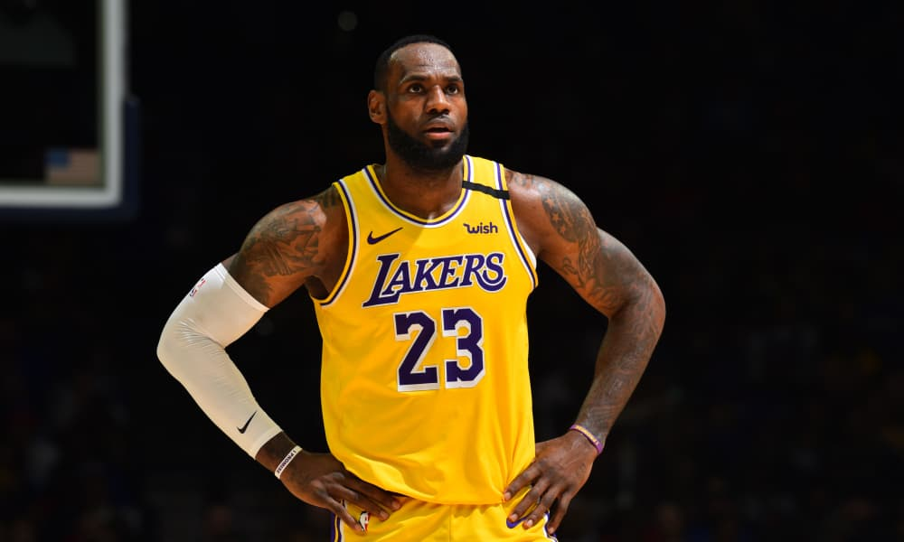 LeBron James during Los Angeles Lakers vs Philadelphia match