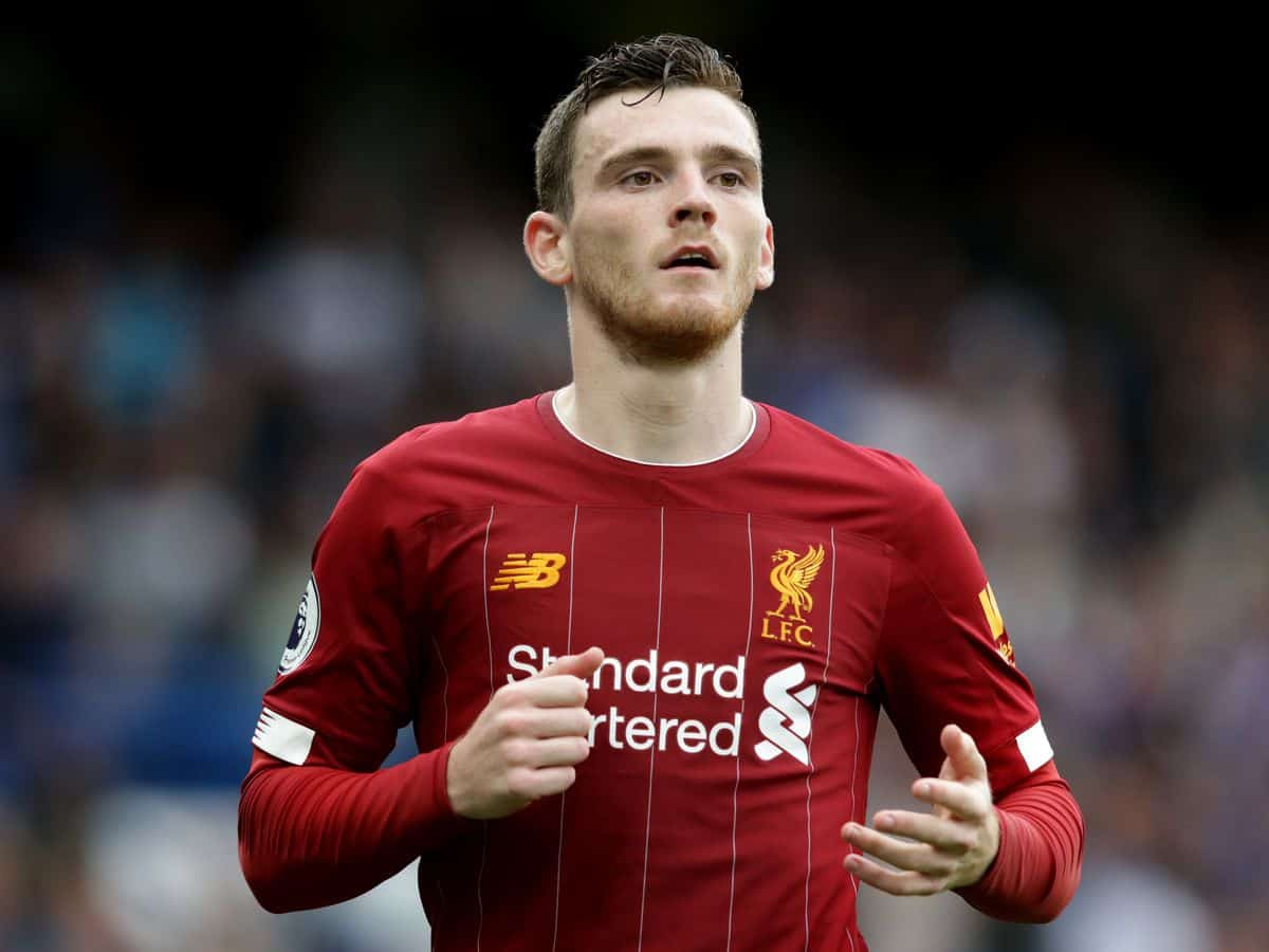 Liverpool left-back Andy Robertson