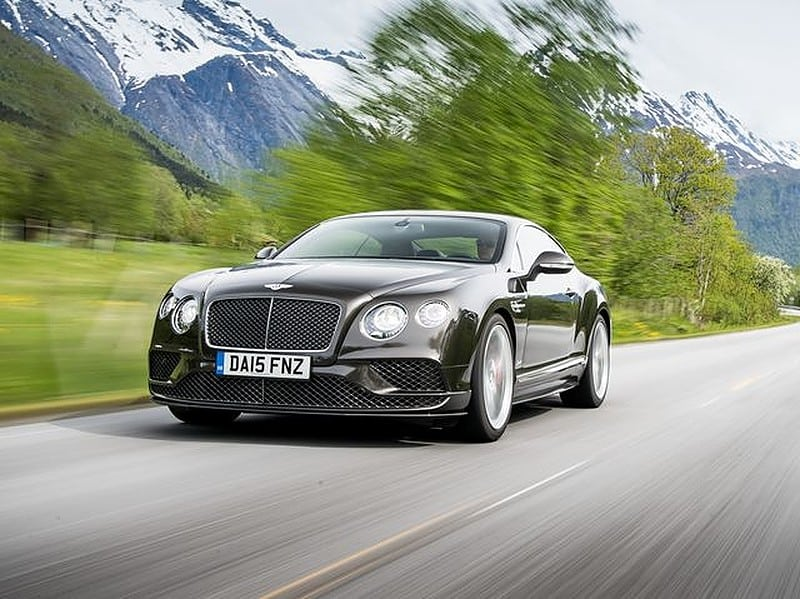 Bentley GT Speed car on the road
