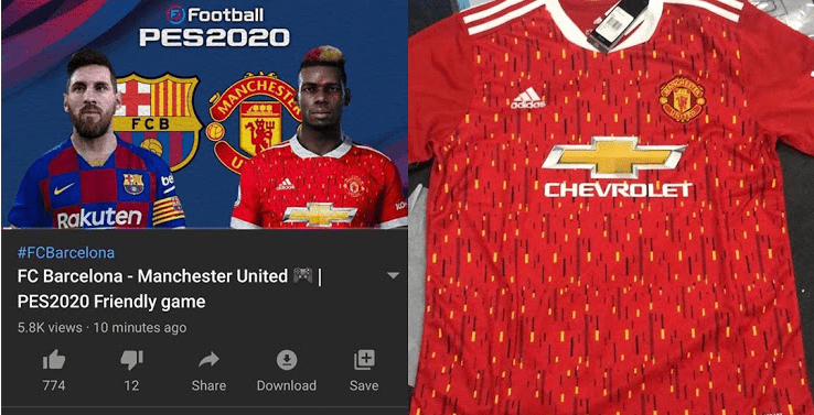 Manchester United 20 21 Home Kit Leaked By Barcelona Youtube Channel