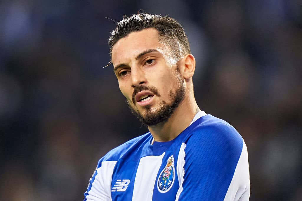Alex Telles of FC Porto reacts during the Liga Nos match between FC Porto and SC Braga at Estadio do Dragao on January 17, 2020 in Porto, Portugal. (Photo by Quality Sport Images/Getty Images)
