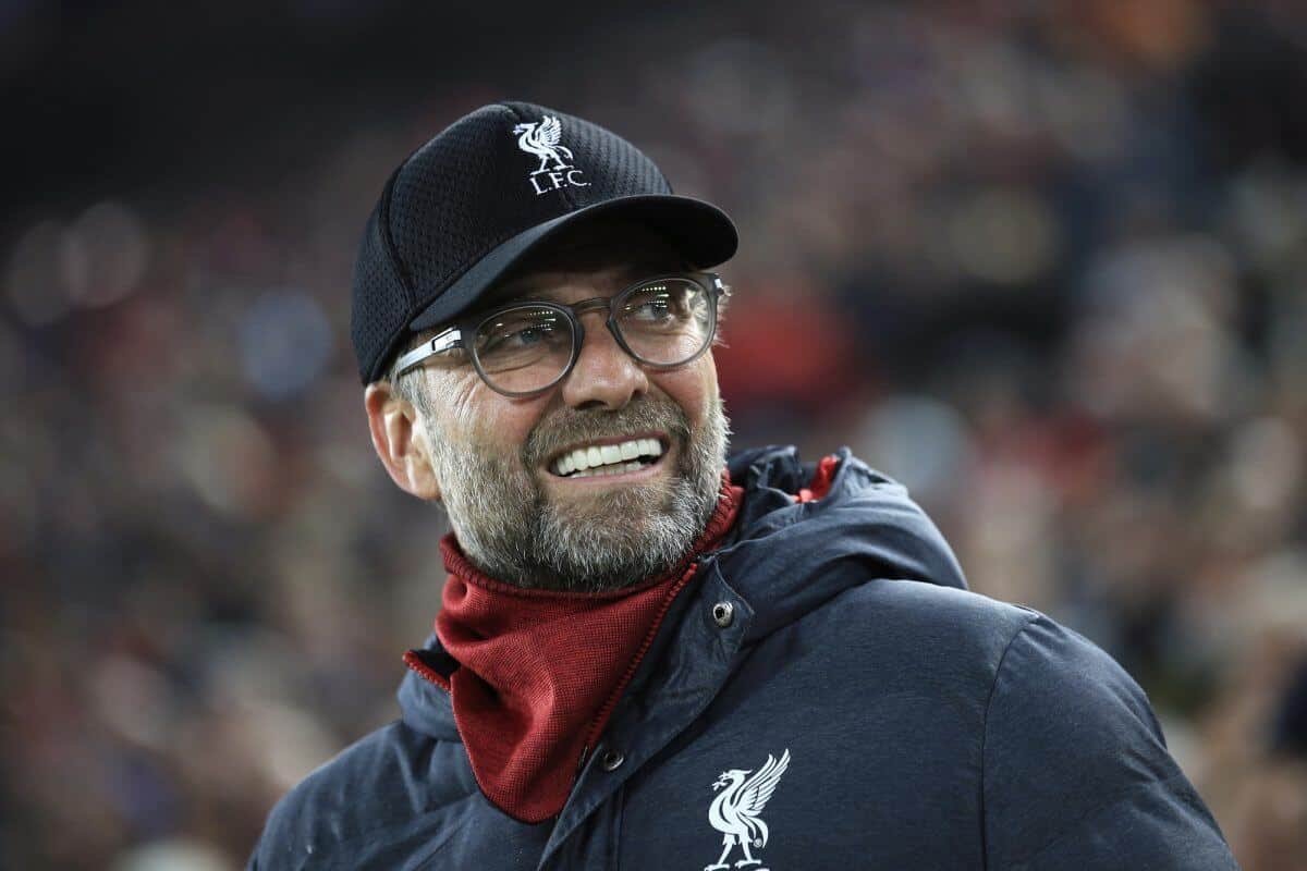 Liverpool boss Jurgen Klopp celebrates victory in the Premier League game