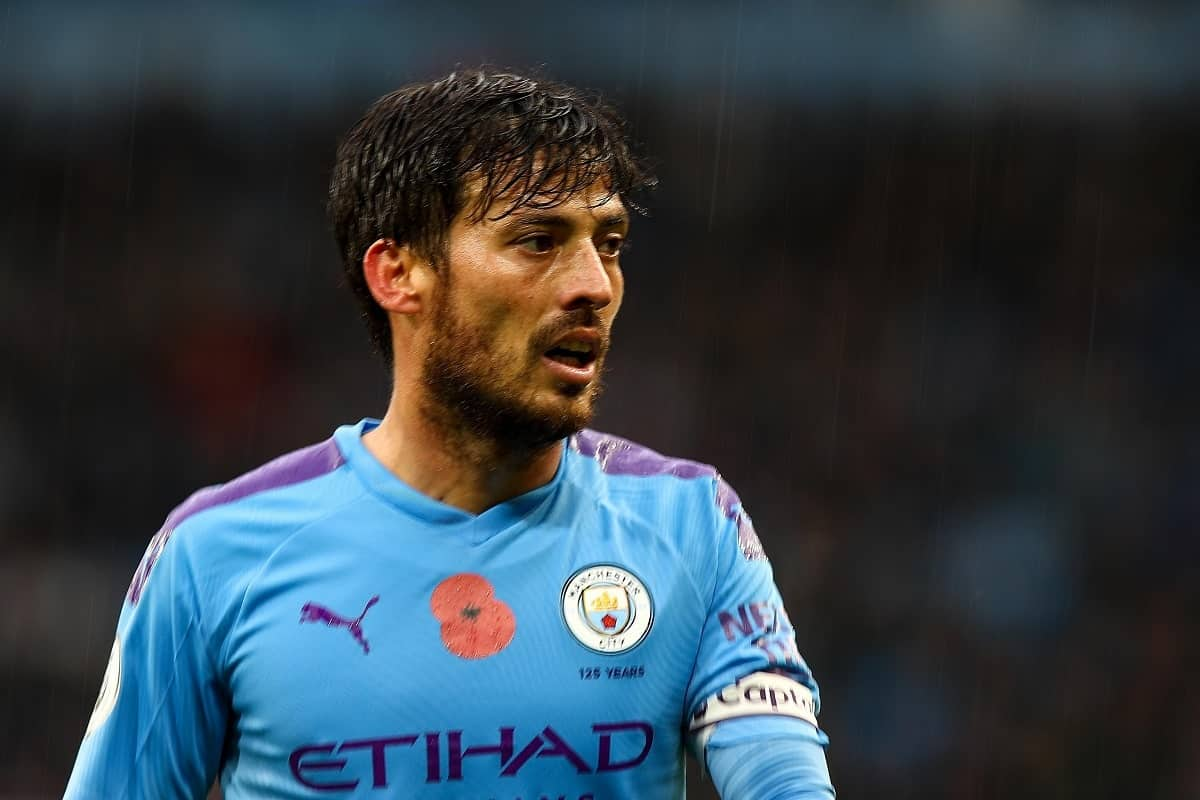 David Silva in action for Manchester City