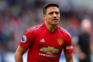 Alexis Sanchez in action for Manchester United
