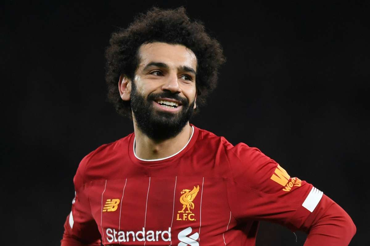 Liverpool star Mohamed Salah in action for Liverpool