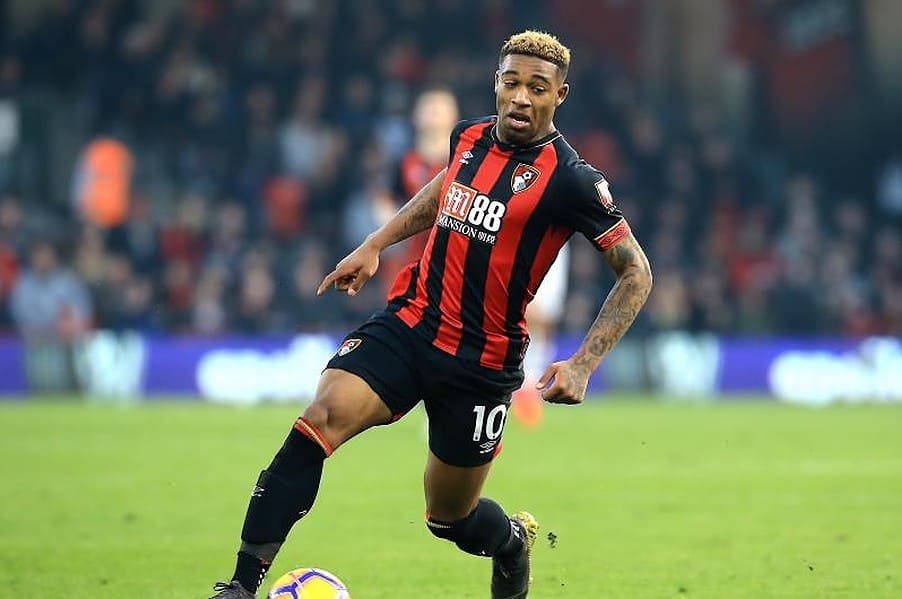 AFC Bournemouth winger Jordan Ibe in action