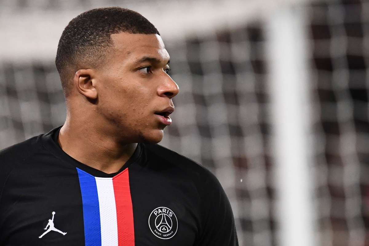 PSG star Kylian Mbappe during Ligue 1 game