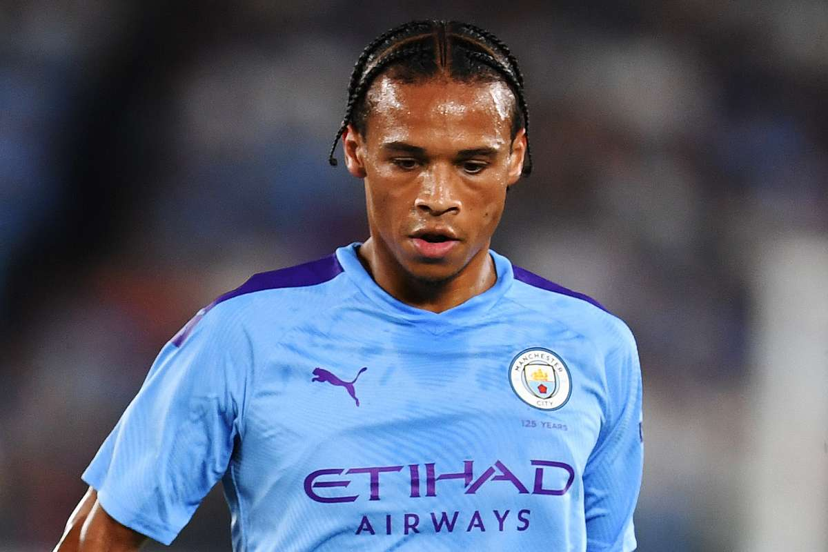 Manchester City winger Leroy Sane in action