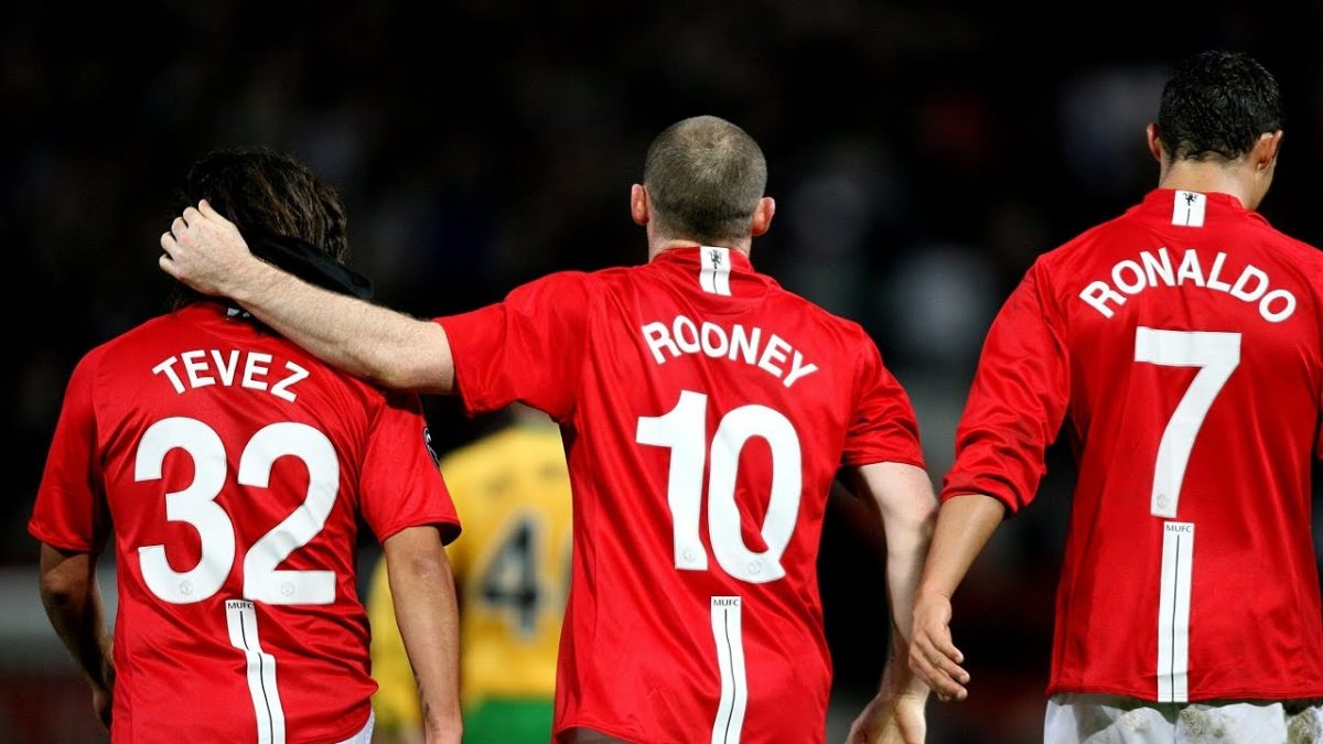 Cristiano Ronaldo, Carlos Tevez and Wayne Rooney in action for Manchester United (Image - Open Sources)