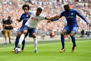 Mousa Dembele playing against Chelsea in 2016