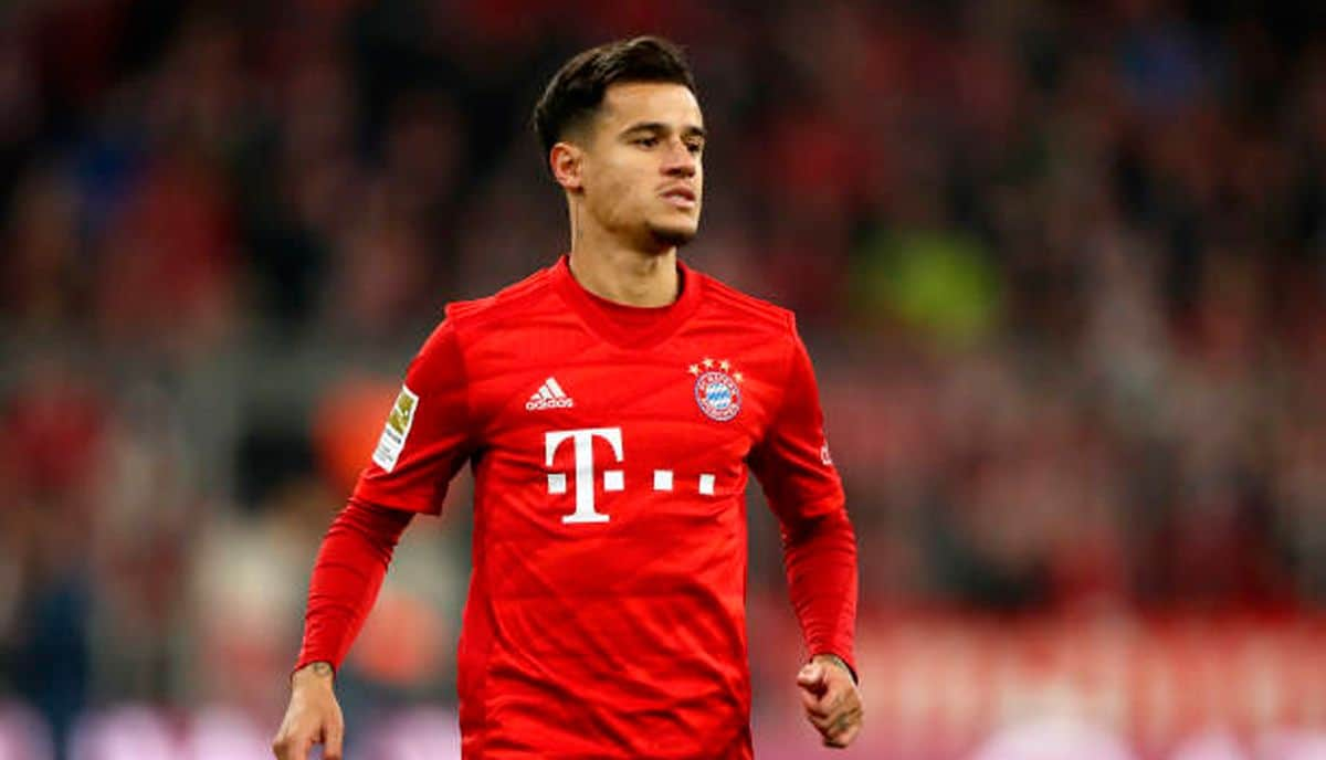 Philippe Coutinho playing for Bayern Munich
