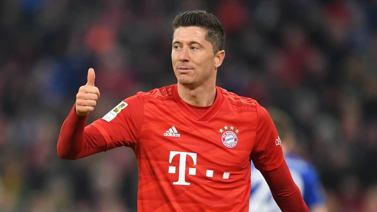 Robert Lewandowski in action for Bayern Munich