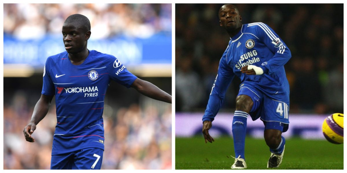 N'Golo Kante and Claude Makelele