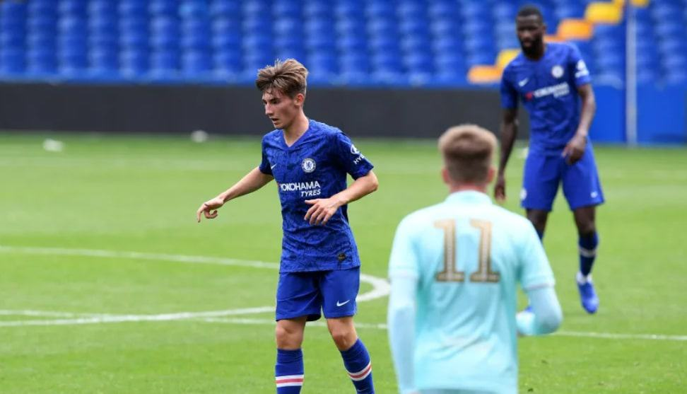 Billy Gilmour during Chelsea's friendly game against QPR