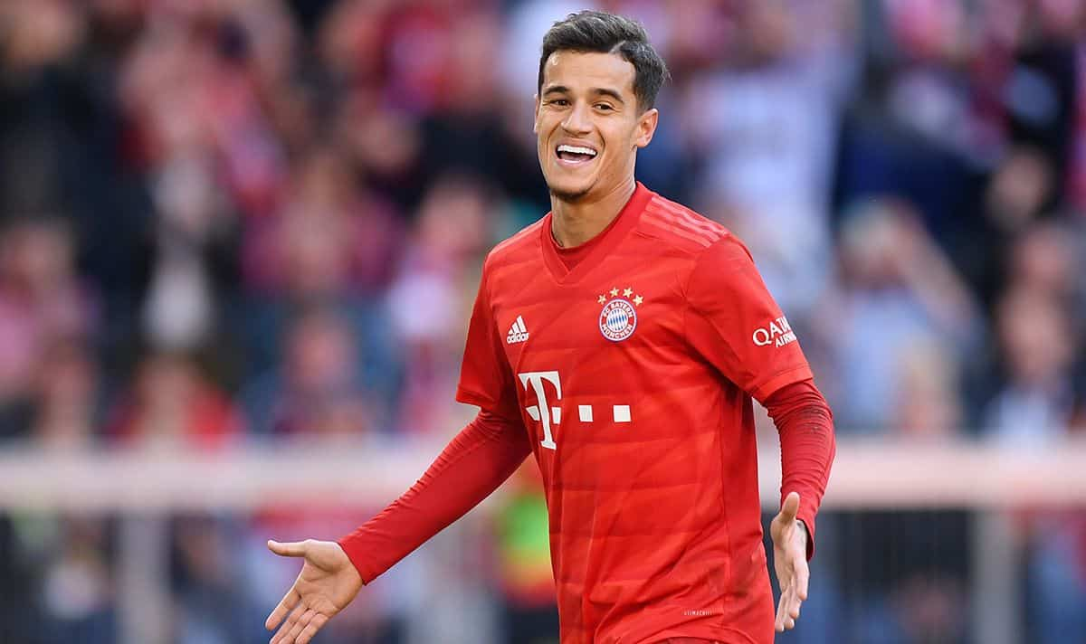 Philippe Coutinho in action for Bayern Munich