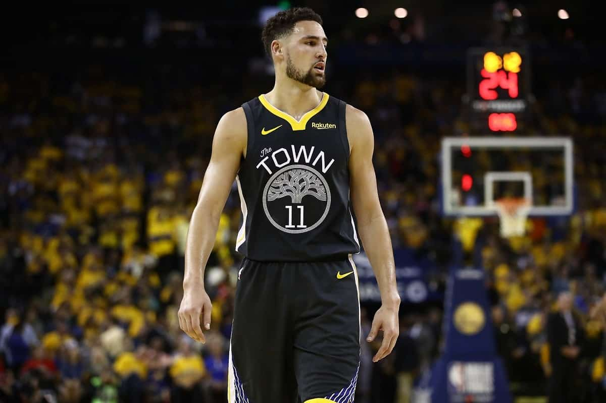 Klay Thompson in action for Golden State Warriors