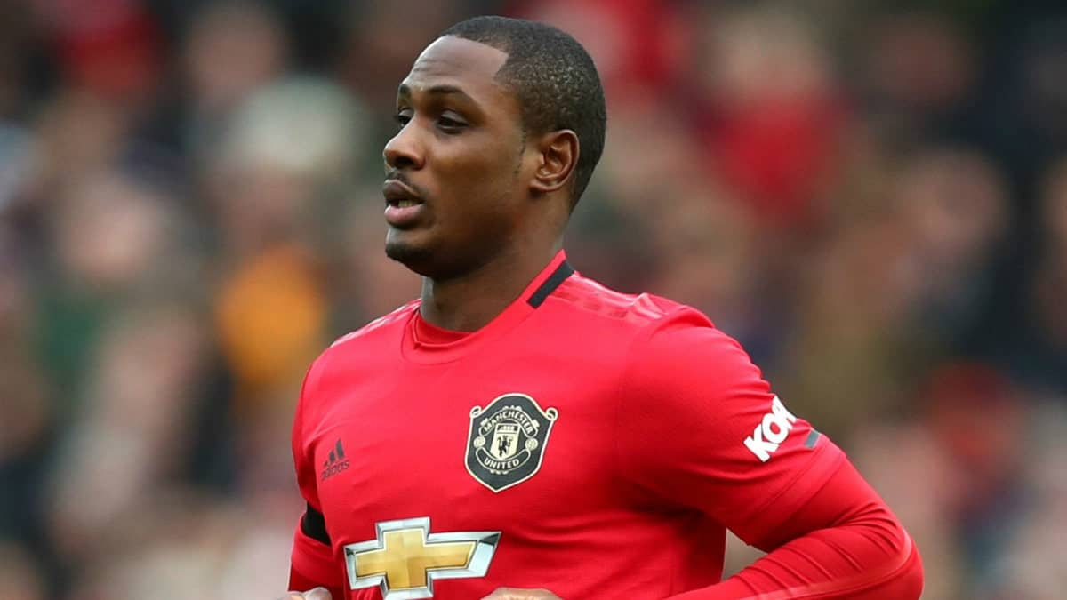 Odion Ighalo in action for Manchester United