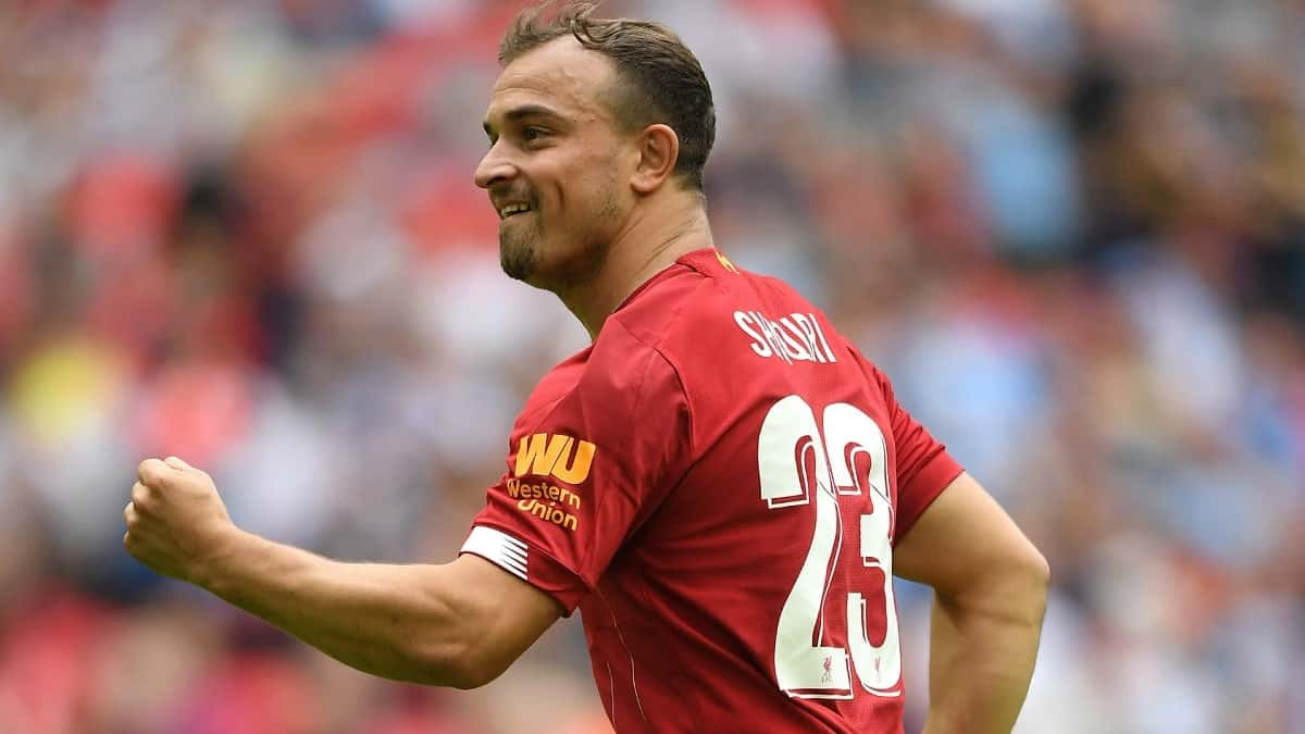 Xherdan Shaiqi in action for Liverpool