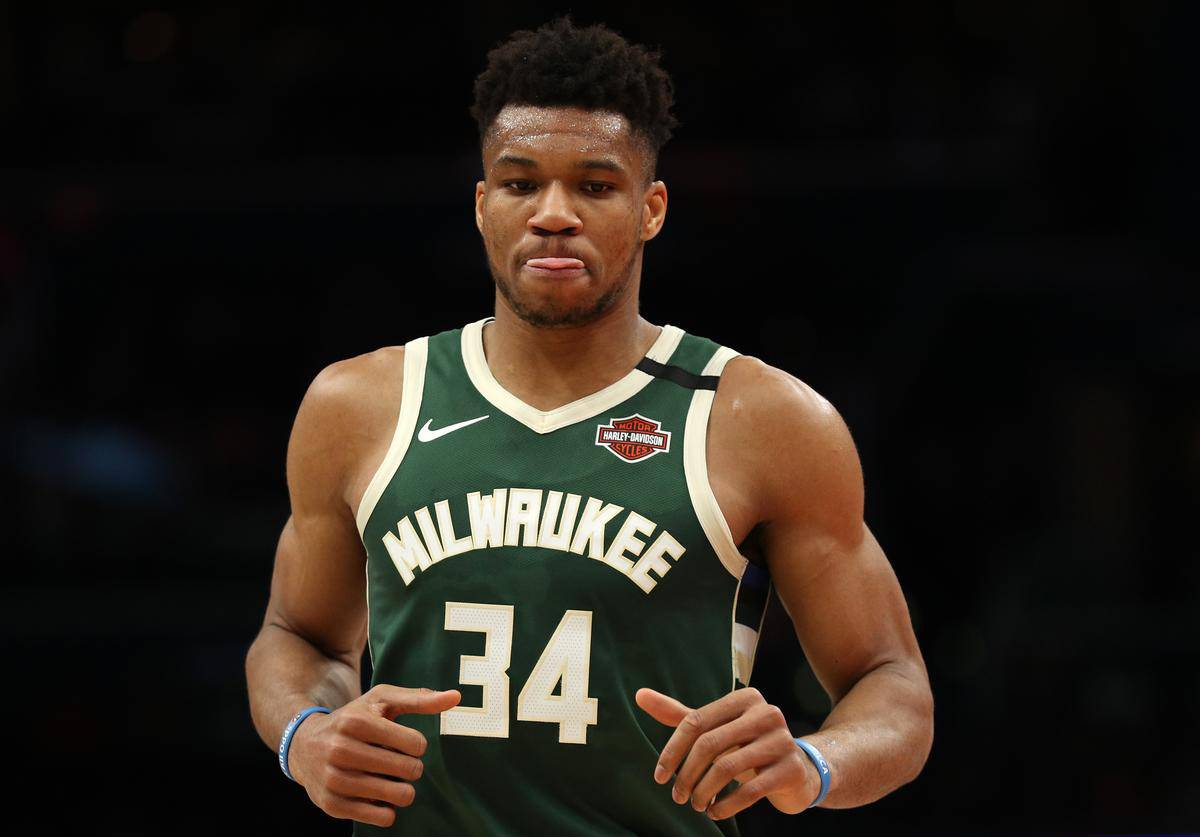 Giannis Antetokounmpo during Milwaukee Bucks game