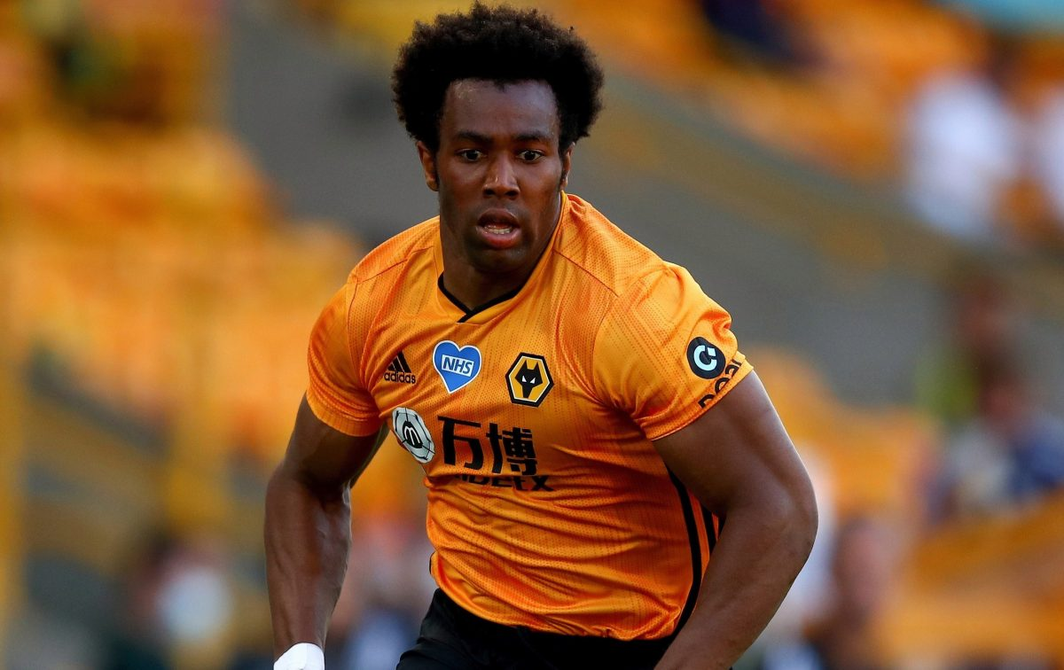 Adam Traore in action for Wolves