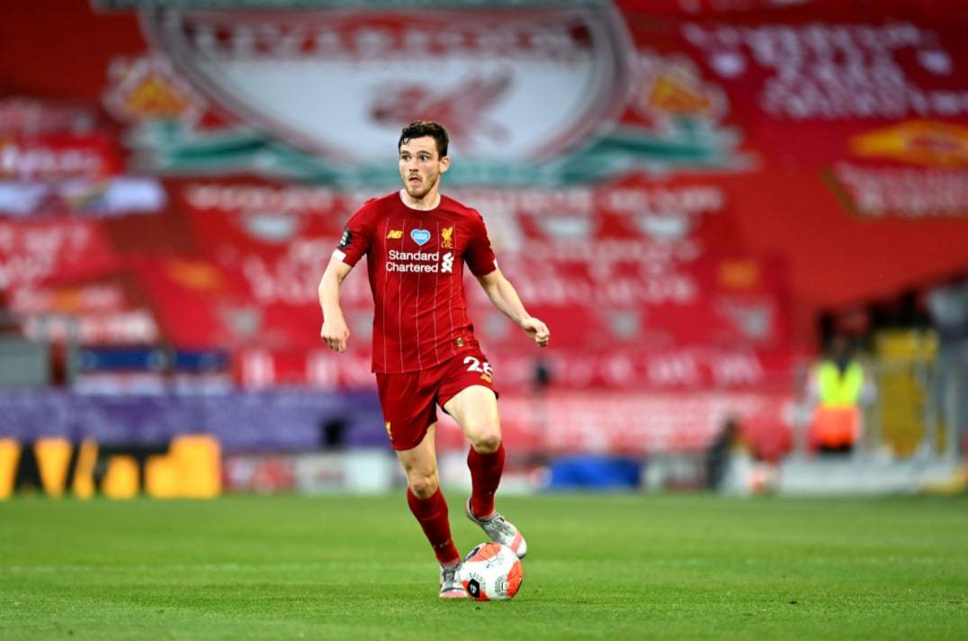 Andy Robertson of Liverpool in action