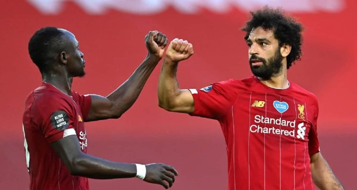 Sadio Mane and Mohamed Salah in action for Liverpool