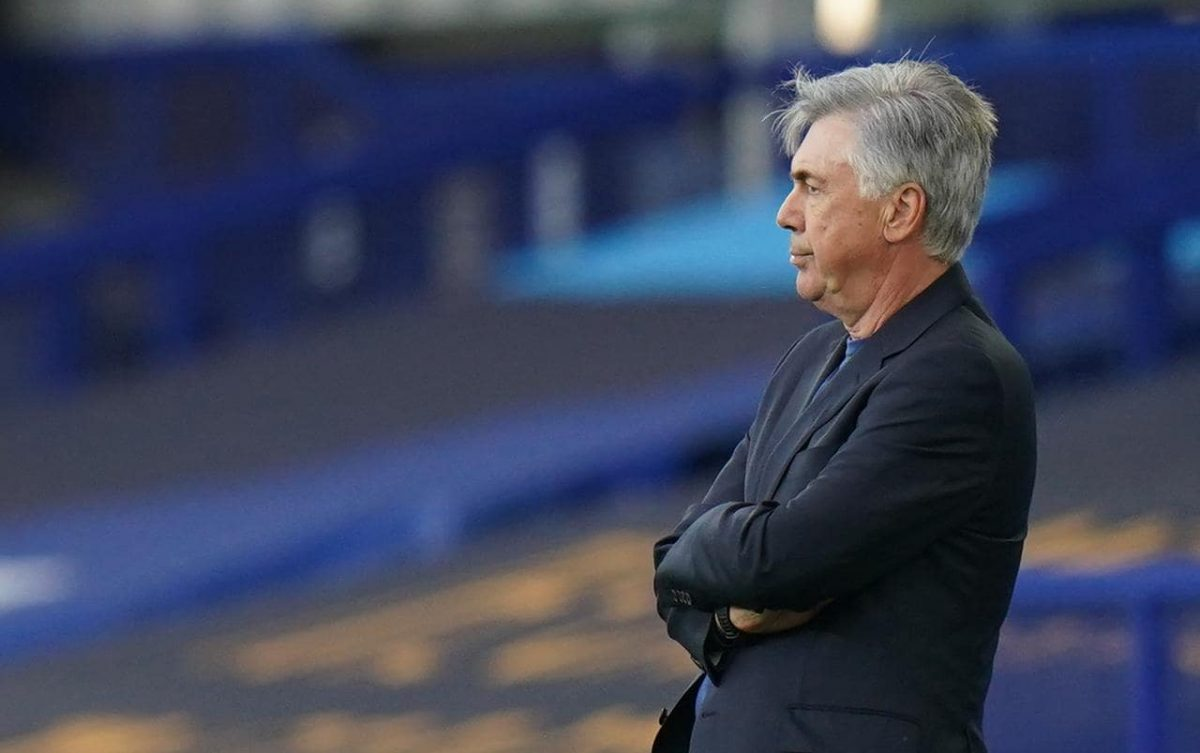 Carlo Ancelotti during Everton game