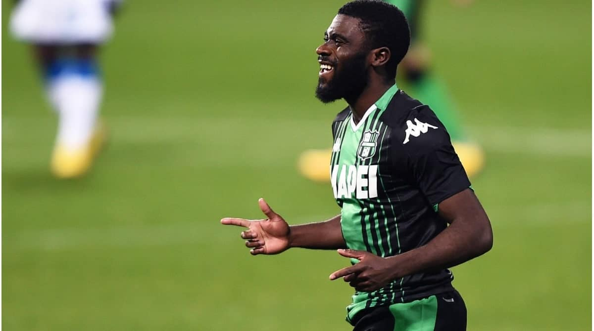 Jeremie Boga in action for Sassuolo