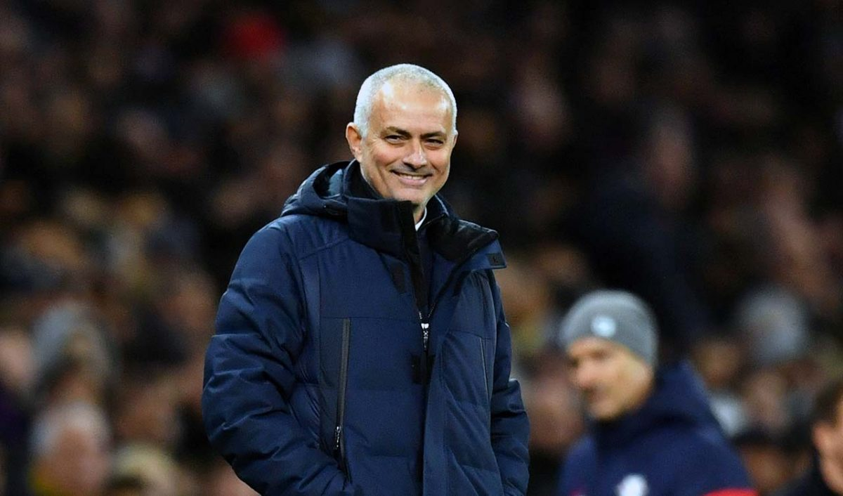 Jose Mourinho during Spurs Champions League game