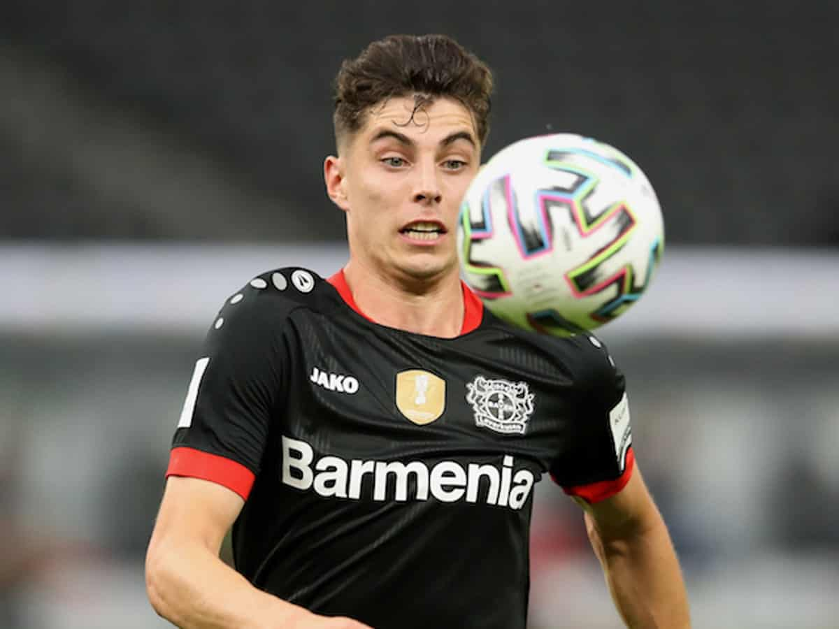 Kai Havertz in action for Bayer Leverkusen during DFB-Pokal