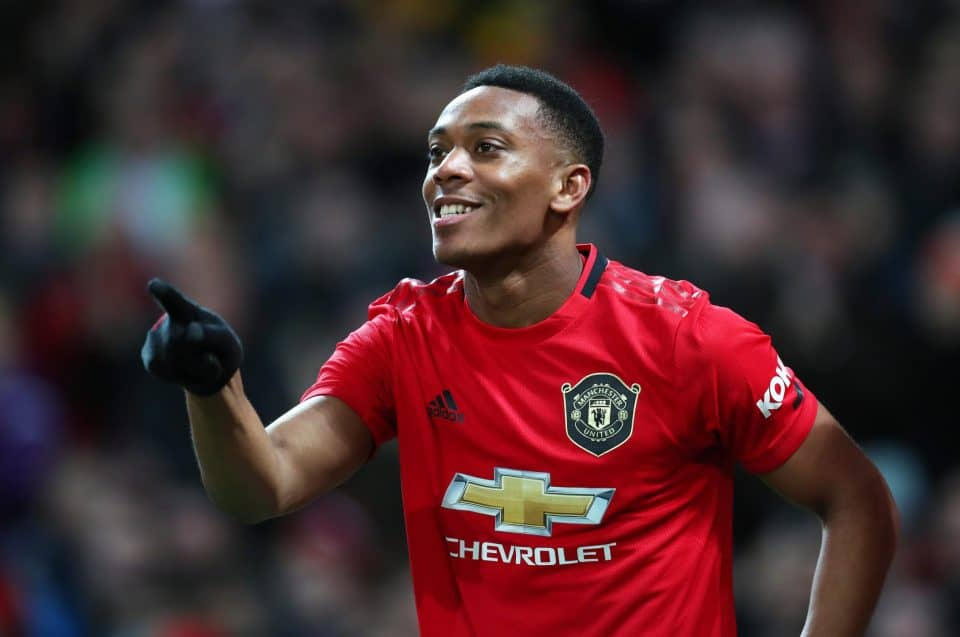 Anthony Martial in action for Manchester United against Sheffield United