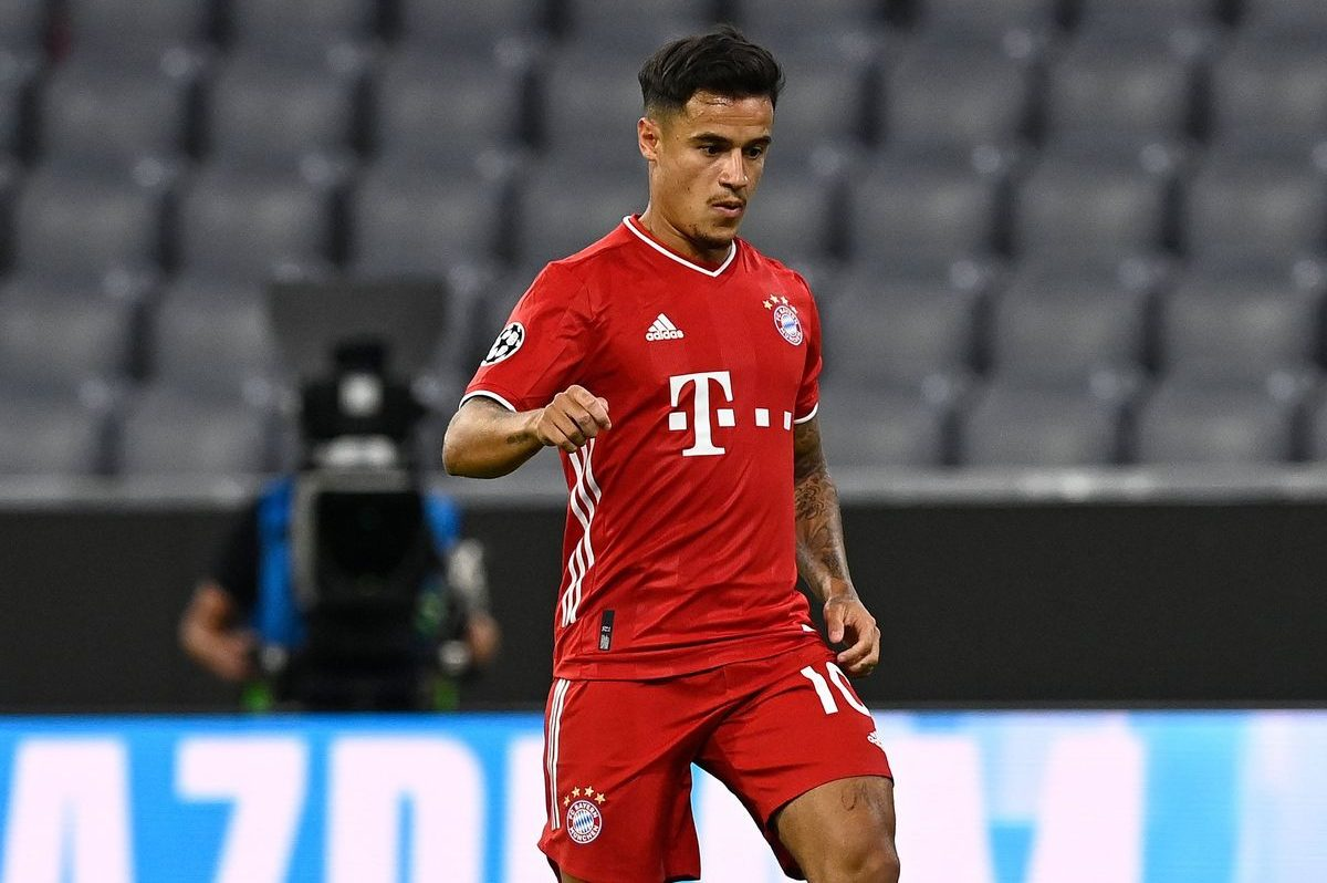 Phillipe Coutinho in action for Bayern Munich