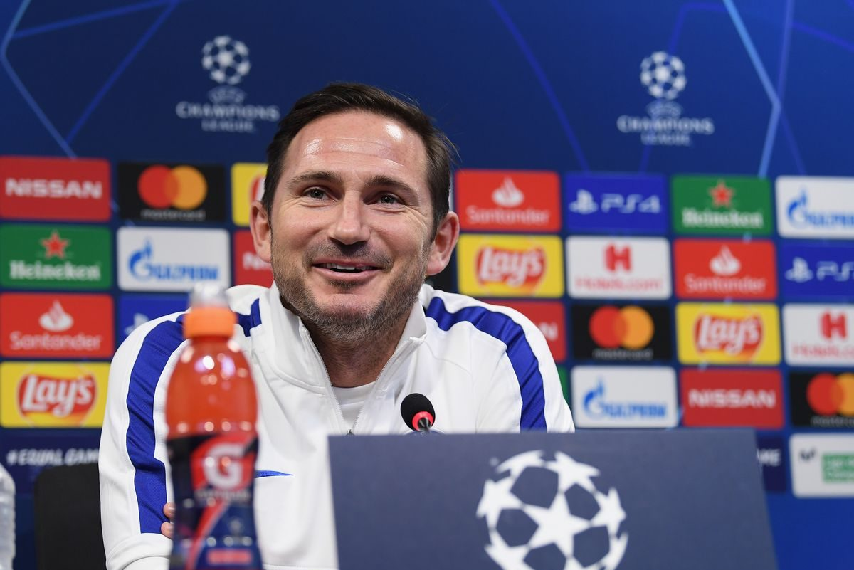 Frank Lampard during Chelsea press conference